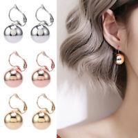 Women Fashion 15MM Ball Drop Earrings Jewelry XMAS Gift Silver,Gold,Rose Gold