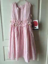 Rosenau Girls -Size 8 -Pink Sleeveless Wedding Flower Girl Party Dress - NWT