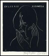 Rastislav Michal Exlibris X2 Bookplate Woman 38