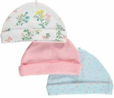 Carter's Baby Girls' 3 Pack Caps   Orig.$24.00  0-3 Months