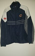 MENS CHICAGO BEARS NFL SI Full Zip Windbreaker Jacket Size Large  Blue White