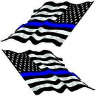 Thin Blue Line / American Flag Decals  (RACE BOAT/BOW FLAGS)