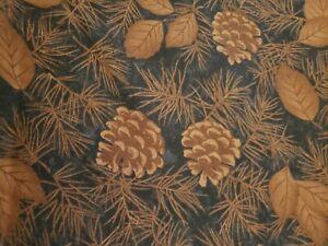 "Holly Taylor ""Pine Creek Crossing"" Brown Pine Cones 2.75 yds cotton"