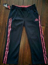 Lonsdale 3/4 Girls Pants Size 11-12yrs Navy w/pink stripe