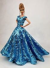 Blue Evening Dress Outfit Gown For Silkstone Barbie Fashion Royalty Rupaul FR
