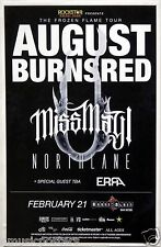 AUGUST BURNS RED /MISS MAY I /NOTRTHLANE  2014 SAN DIEGO TOUR POSTER-Metal Music