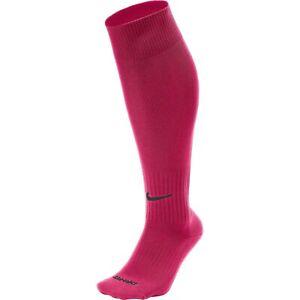 Nike Classic II Cushioned Knee High Over The Calf Soccer Socks PINK SX5728-616 L