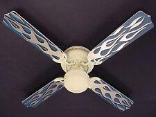 """New HOT ROD FIRE FLAMES Ceiling Fan 42"""""""