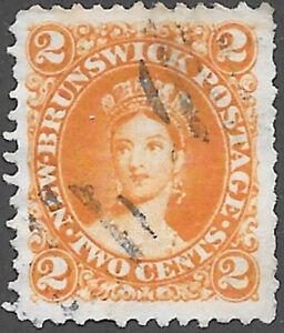 New Brunswick Scott Number 7c Queen Victoria Used Cat $8.50