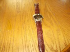 U.S. POLO ASSN. BROWN DIAL/BROWN FAUX LEATHER BAND MEN'S WRIST WATCH USC20071