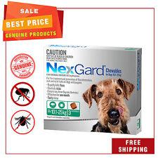 NEXGUARD for Dogs 10.1 - 25 Kg Green Pack 3 Chews Flea Tick Treatment NEXGARD