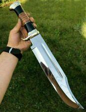 "18"" Custom Handmade Hunting Crocodile Dundee  High Polish Bowie Knife"