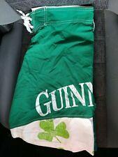 New listing GUINNESS Mens POLYESTER SWIM SHORTS GREEN & WHITE EC Sz 36