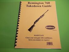 TAKEDOWN MANUAL GUIDE REMINGTON 760 SLIDE ACTION RIFLE illustrated & referenced