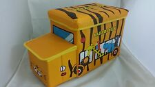 Kids Safari Bus Ottoman Toys Books Box Storage Seat Chest Pouffe Bedroom Chair
