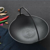 Outdoor Camping Cast Iron Skillet Kitchen Hanging Cooking Cookware 20cm