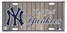 New York Yankees Metal Car Truck Tag License Plate MLB Baseball Game Room Decor