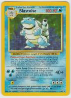 Pokemon Card Unlimited Edition Holo Rare Base Set 1999 Blastoise 2/102