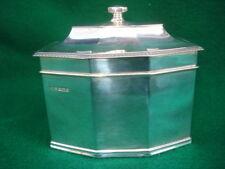 20th Century English Sterling Octagonal Tea Caddy