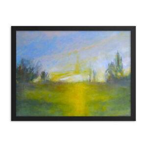 Framed poster ++ Dawn ++ Original Landscape Art