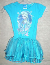 Girls blue DISNEY FROZEN Elsa dress , sz 6/6X