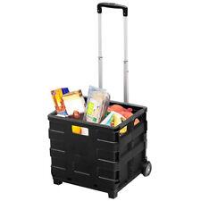 Trolley Carrello Attrezzi Pieghevole per la Spesa o Bricolage 2 Ruote con Manico