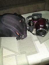 Nikon COOLPIX L830 16.0MP 34X Wide Zoom Digital Camera tested - WORKS! w/ bag