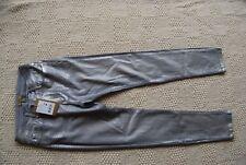 NWT Silver /Gray Metallic Coated BANDOLERA Stretch Skinny Jeans EU 36 UK 10 US 6