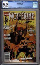 Wolverine 35 CGC Graded 9.2 NM- Newsstand Marvel Comics 1991
