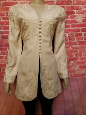 Marie St. Claire Vintage Womens Jacket Beige  Long Size 10 Embellished #C