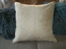 "Pottery Barn Big FAUX Suede light Yellow Gold  24"" x 24"" complete pillow"
