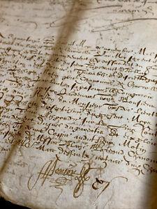1608 ANTIQUE MANUSCRIPT  4 pages
