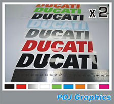 2 x DUCATI Vinyl Decals / Stickers - ANY COLOUR - Bellypan/Tank/Swingarm Monster