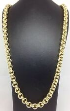 HEAVY - Solid 9ct Gold Belcher Chain- 28inch 79g Uk Hallmark RRP £3555