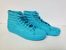 Vans Off The Wall SK8-HI Skate Shoes Teal Aqua Green Unisex Men 9 / Women 10.5