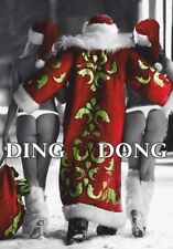 Xmas Tops Santa Chills Ding Dong Funny Father Novelty Christmas  Ladies Hoodie