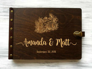 Travel Photo Album Wedding Photo Album Wedding Gift for Couple Wood Travel Album