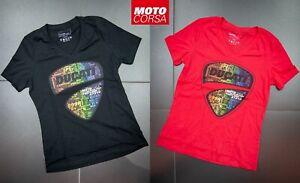 Womens Ducati Pride V-Neck T-Shirts sz SM to 2XL