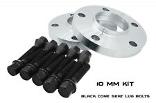 10mm BMW Wheel Spacers 5x120 72.56mm PAIR E36 E46 E87 E90 E91 M3 E60 BLACK BOLTS