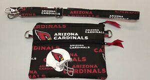 "Arizona Cardinals NFL stadium size 4.5"" x 6.5"" cross body purse bag handmade"