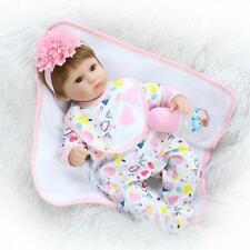 "Girl Doll 17""Real Life Like Reborn Soft Silicone Fake Baby Newborn Dolls Toddler"