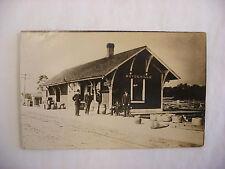 Real Photo Postcard RPPC  Railroad Depot Boyceville Wisconsin WI #1350