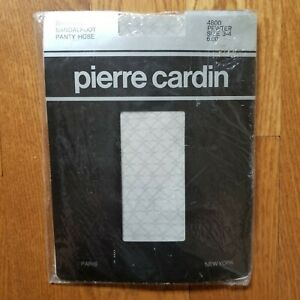 """Vintage Pierre Cardin Fashion All Nylon """"Panty Hose"""" In Pewter Size 3-4 Up To 6'"""