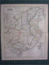 1887 Antiguo Mapa ~ China Ho-Nan Formosa Taiwan Hainan Quang se