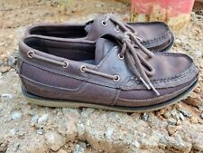 Timberland 41578 Kia Wah Bay Brown Leather/Mesh Boat Deck Loafer Men's Sz 9M