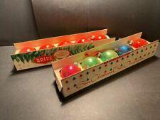 "10 Vintage Shiny Brite Christmas Tree Ornaments 2"" Balls Bulbs Multi Color"