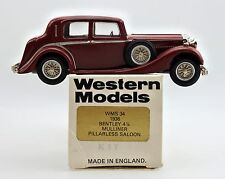 WESTERN MODELS 1/43 WMS34 DIECAST 1936 BENTLEY 4-1/4 MULLINER PILLARLESS SALOON
