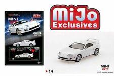MINI GT TOYOTA SUPRA (JZA80) LHD WHITE LTD ED 4,800 PCS 1/64 DIECAST CA MGT00014