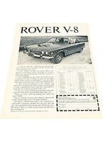 1970 Rover 3500 V-8 V8 Sedan 2-page - Vintage Advertisement Car Print Ad J408