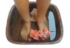 Rustic Square Copper Foot Soaking Bath Wash Massage Spa Therapy Pedicure Bowl